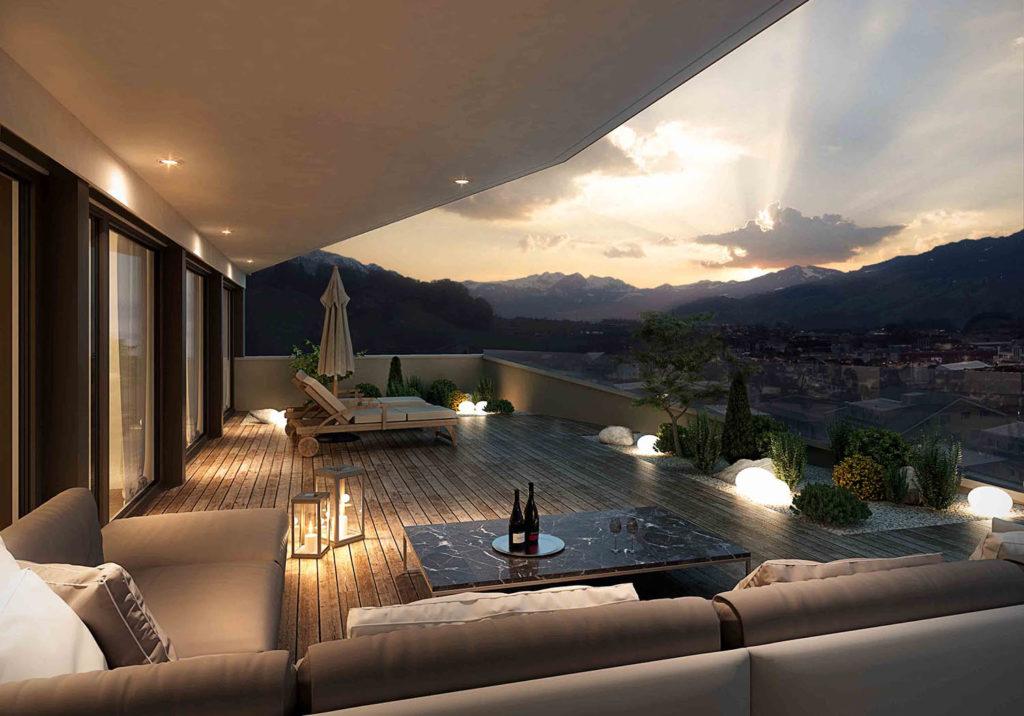 Balkon Visualisierung